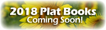 sunflowers with text on top advertising 2018 Plat Books coming soon
